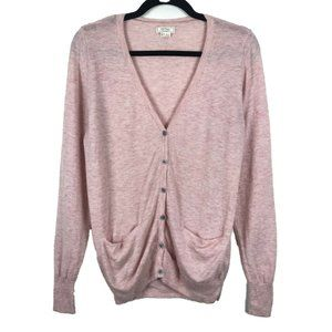 Fat Face Pink Wool Cashmere Blend Cardigan